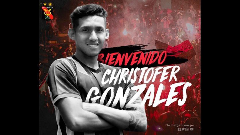 FBC Melgar se refuerza con Christofer Gonzales