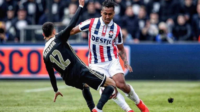 Renato Tapia no pudo evitar la goleada sobre el Willem II