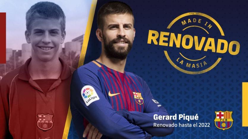 Barcelona: Gerard Piqué renueva hasta el 2022