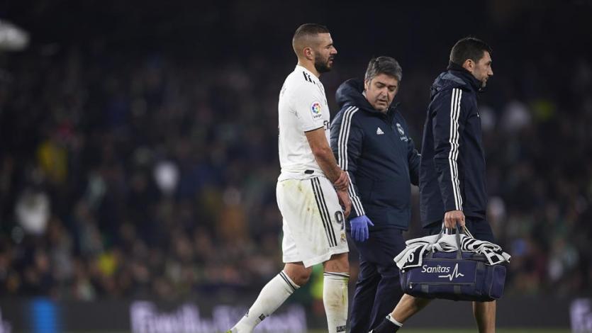Karim Benzema se suma a la lista de bajas en el Real Madrid