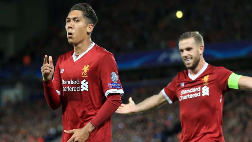 Firmino marca el gol más rápido del Liverpool en la Champions League