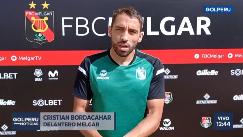 """Cristian Bordacahar: """"Llego con muchas expectativas de hacer las cosas bien"""" (VIDEO)"""