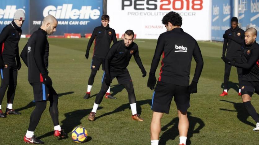 Barcelona: Jordi Alba entrenó con normalidad previo al clásico