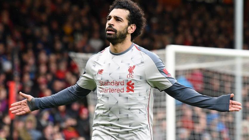 Liverpool golea al ritmo de Salah y trepa a la punta de la Premier League
