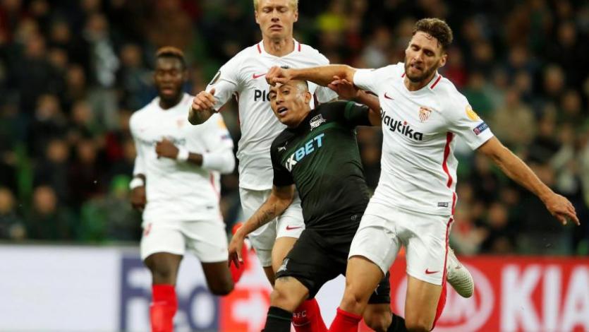 Sevilla golea a Krasnodar y se queda con el grupo J de la Europa League