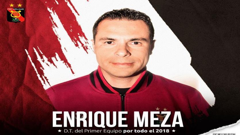 Enrique Meza seguirá siendo DT de Melgar en 2018