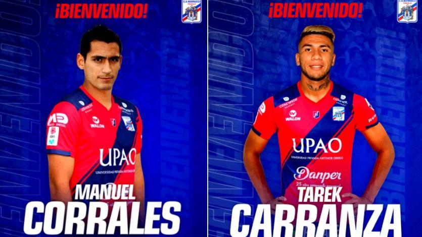 Carlos A. Mannucci hizo oficial el fichaje de Manuel Corrales y Tarek Carranza