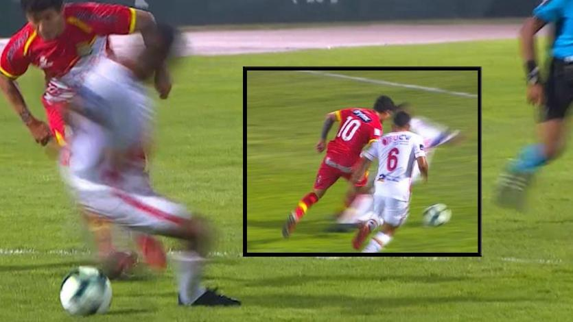 Copa Bicentenario: así fue la terrible falta de Jair Yglesias que el árbitro no consideró penal (VIDEO)