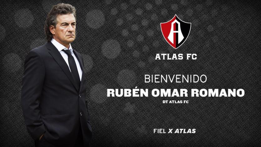 Rubén Omar Romano es nuevo DT del Atlas de Alexi Gómez