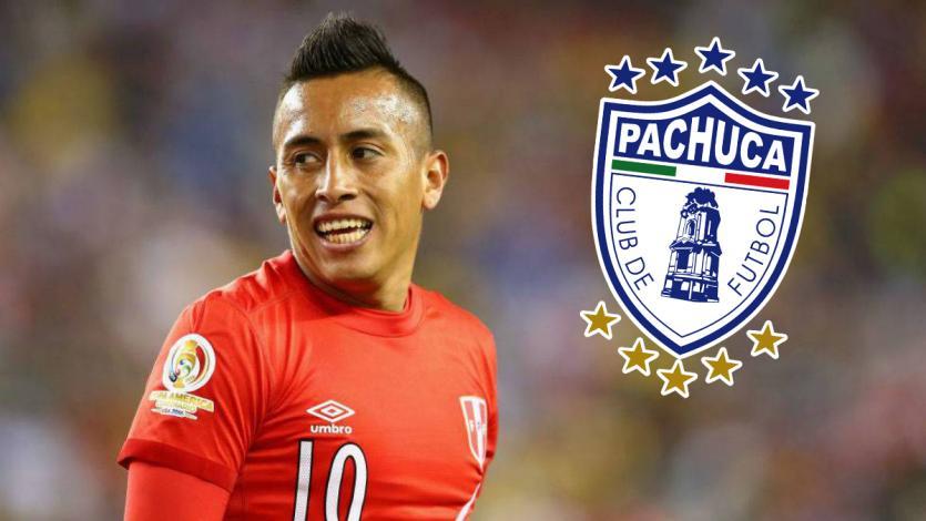 Christian Cueva fue oficializado como nuevo jugador del Pachuca de México