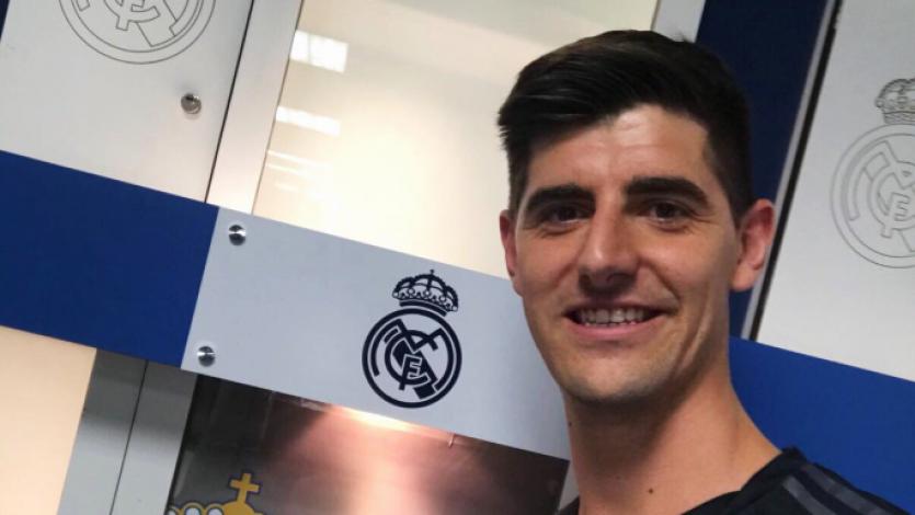 Thibaut Courtois fue presentado oficialmente en el Santiago Bernabéu