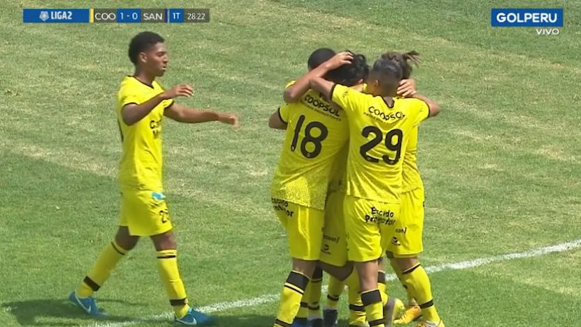 Deportivo Coopsol se llevó el primer duelo frente a Santos FC por los play off de la Liga2 (VIDEO)