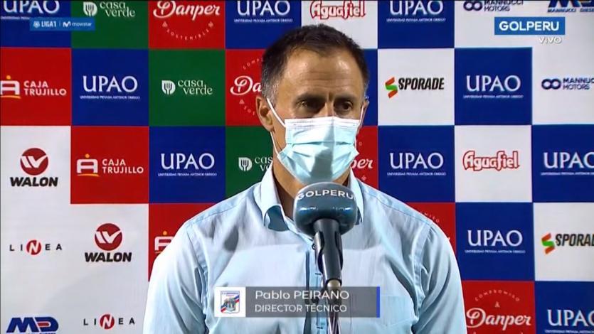 """Pablo Peirano: """"Este triunfo es por la personalidad de los futbolistas de Carlos Mannucci"""" (VIDEO)"""