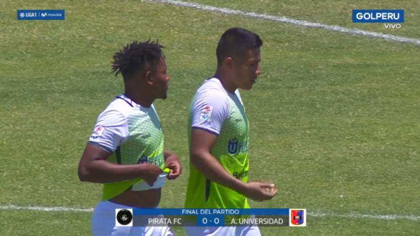 Pirata FC y Alianza Universidad igualaron sin goles por la fecha 7 del Torneo Clausura