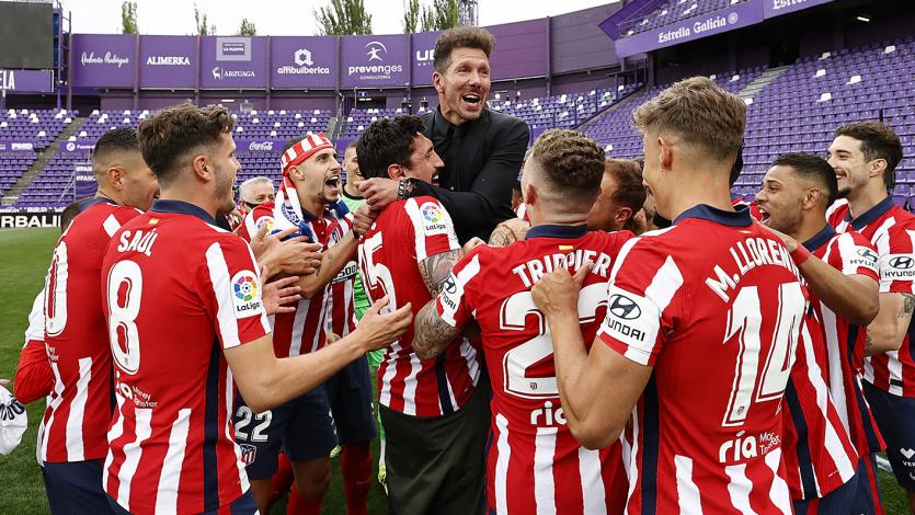La Liga: Atlético Madrid venció 2-1 al Real Valladolid y se consagró campeón con gol de Luis Suárez