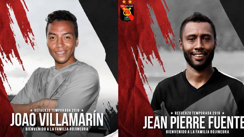 Melgar: Jean Pierre Fuentes y Joao Villamarín son los nuevos refuerzos