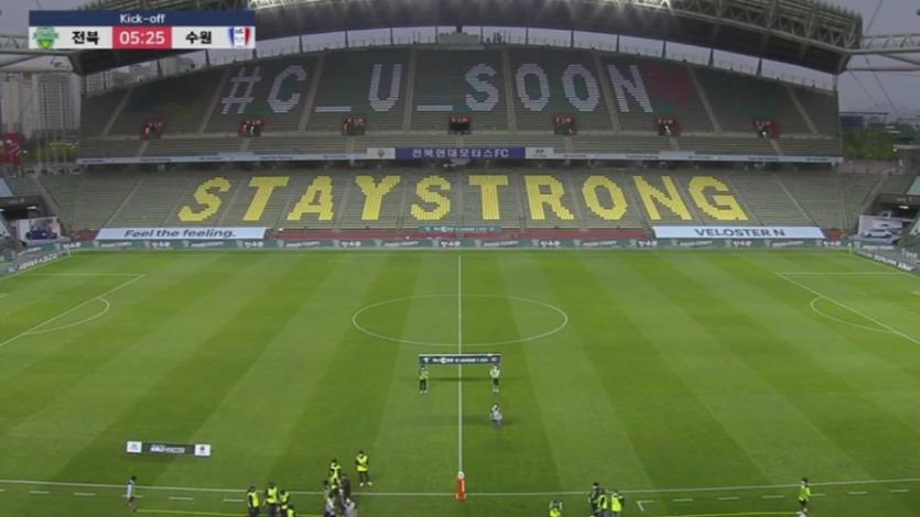 La Liga de Corea del Sur volvió a la acción después de dos meses y así celebraron el primer gol (VIDEO)