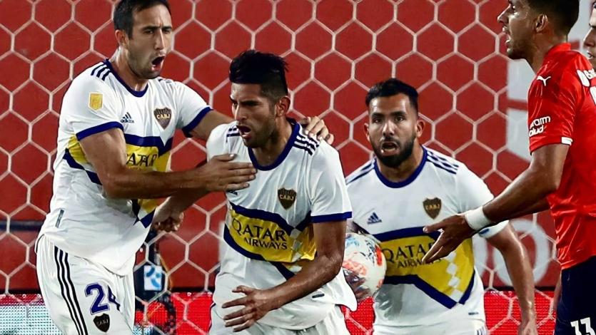 Carlos Zambrano fue figura y anotó el gol del empate de Boca Juniors ante Independiente (VIDEO)