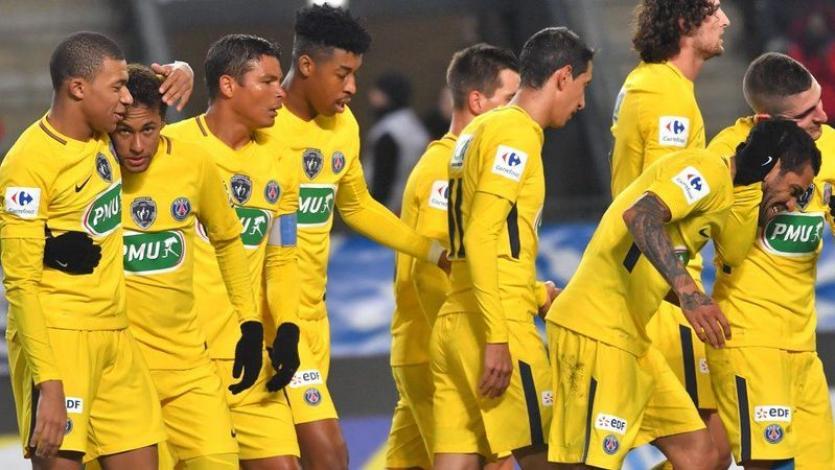 PSG aplastó 6-1 a Rennes por la Copa de Francia