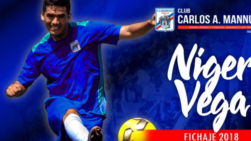 Segunda División: Niger Vega es nuevo jugador de Carlos A. Mannucci
