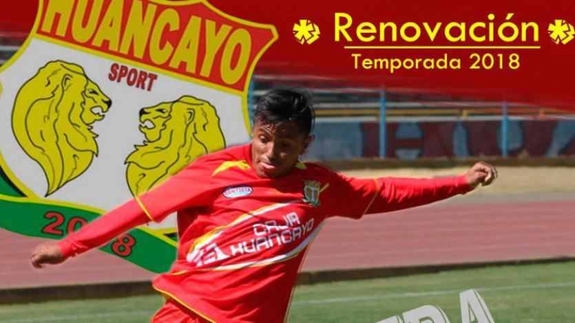Víctor Peña renovó con Sport Huancayo