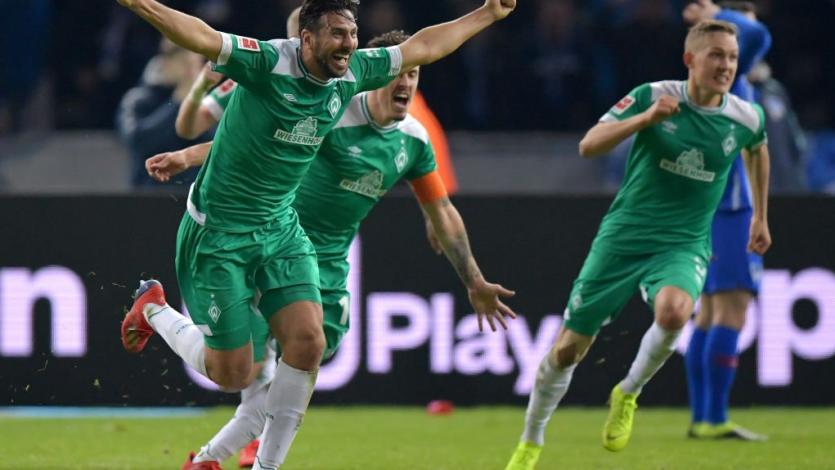 Con Claudio Pizarro, Werder Bremen igualó 1-1 ante Monchengladbach