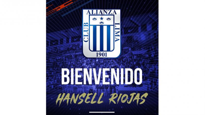 Alianza Lima anunció la vuelta de Hansell Riojas