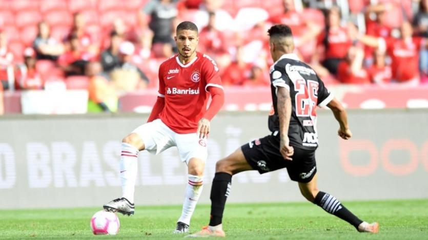 Internacional con Paolo Guerrero cayó en casa por 1-0 ante Vasco por el Brasileirao (VIDEO)
