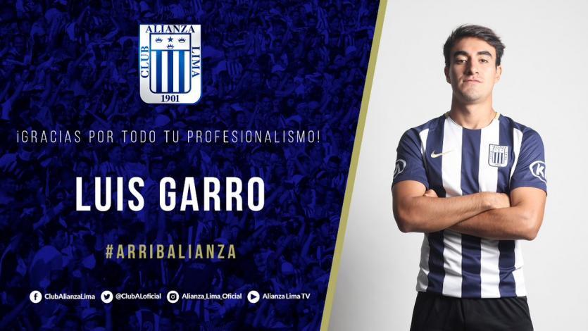 Luis Garro no continuará en Alianza Lima