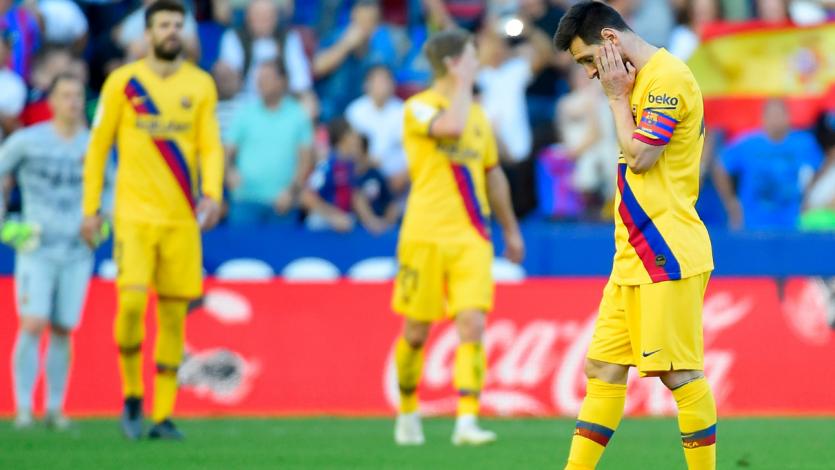 Barcelona cayó en su visita ante Levante y podría perder la punta de La Liga