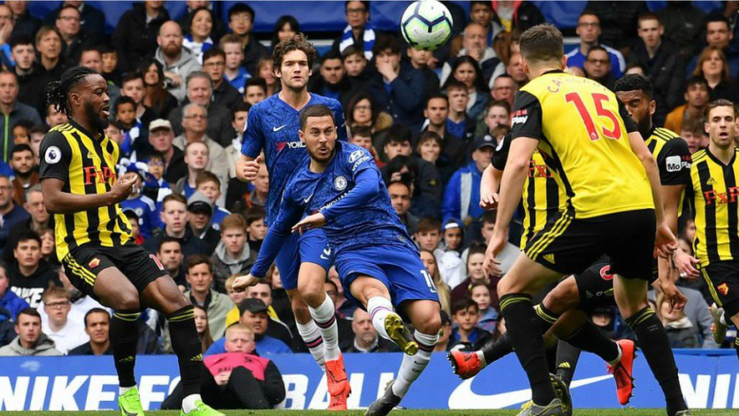 Chelsea goleó al Watford y aseguró su presencia en la Champions League