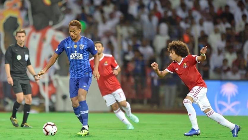 André Carrillo actuó en la goleada del Al-Hilal sobre el Al Wehda