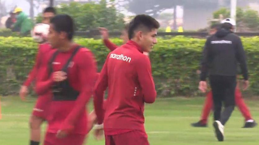 Universitario de Deportes: hermano de Raúl Ruidíaz entrenó con el primer equipo (VIDEO)