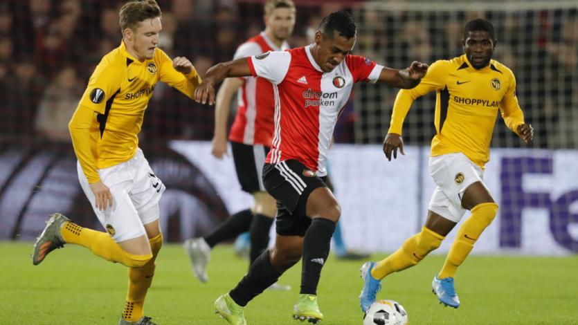 Europa League: Renato Tapia fue titular en el empate del Feyenoord con el Young Boys (VIDEO)