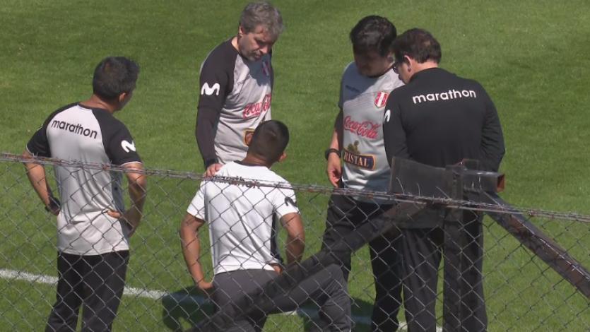 Selección Peruana: Edison Flores entrenó diferenciado a un día del primer amistoso contra Uruguay