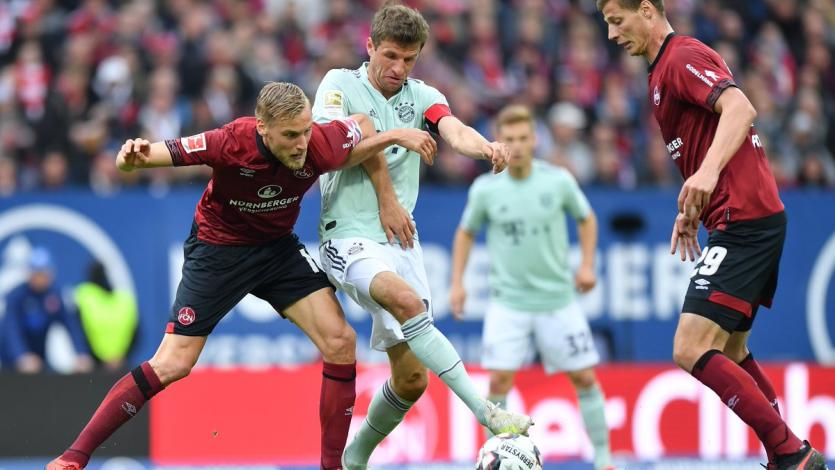 Bayern Múnich igualó 1-1 en su visita ante el Núremberg