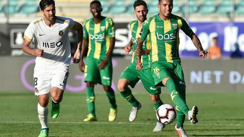 Sergio Peña fue titular con el Tondela