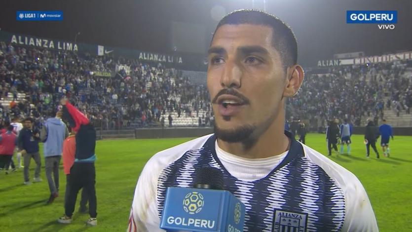 """Adrián Balboa tras la victoria: """"Me moría de ganas de hacer un gol con Alianza Lima"""" (VIDEO)"""