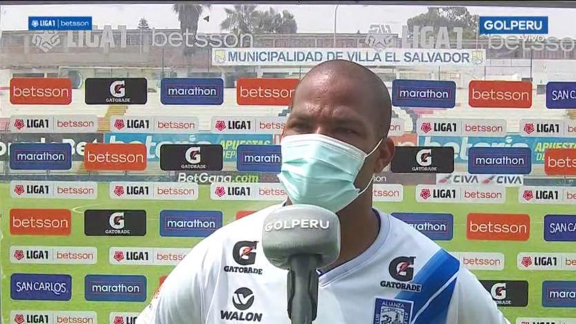 Alberto Rodríguez tras su debut con Alianza Atlético:
