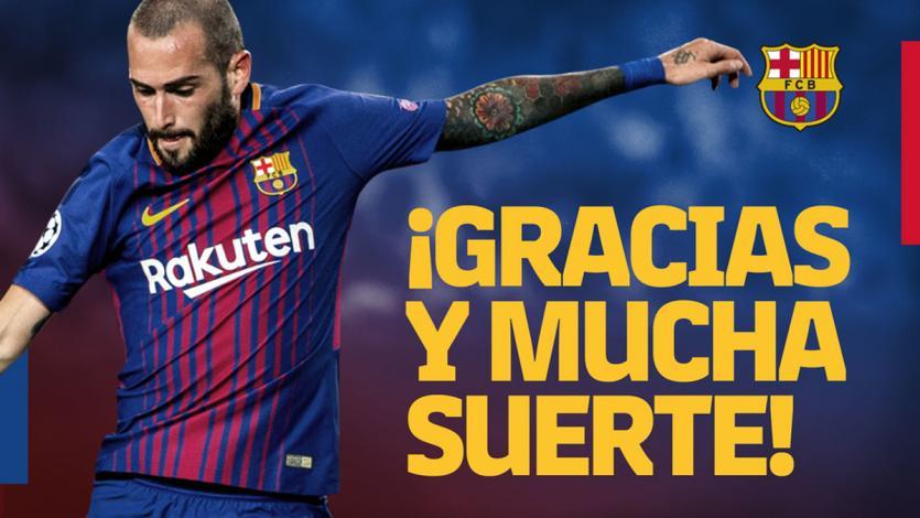 Aleix Vidal deja el Barcelona y es nuevo jugador del Sevilla