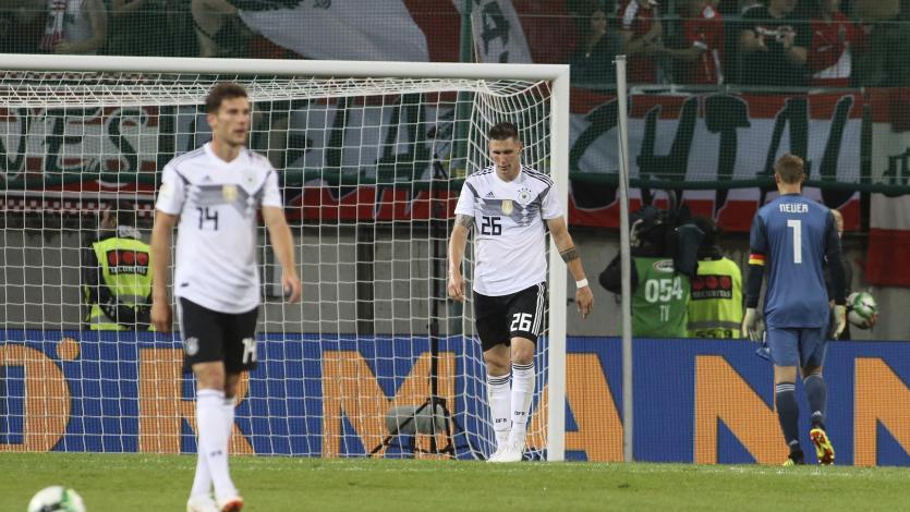Alemania acumula cinco partidos consecutivos sin triunfos