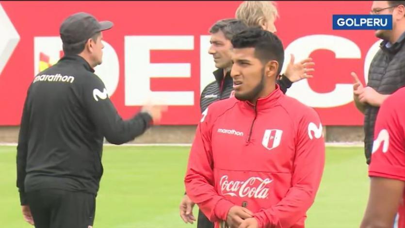 Alexis Arias se unió a entrenamientos de la Selección Peruana y mostró sus habilidades (VIDEO)