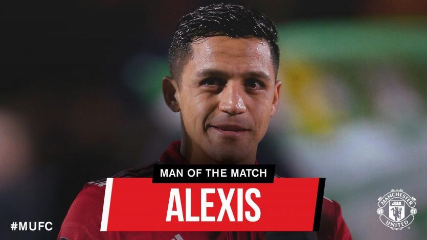 Alexis Sánchez se luce en su debut con el Manchester United