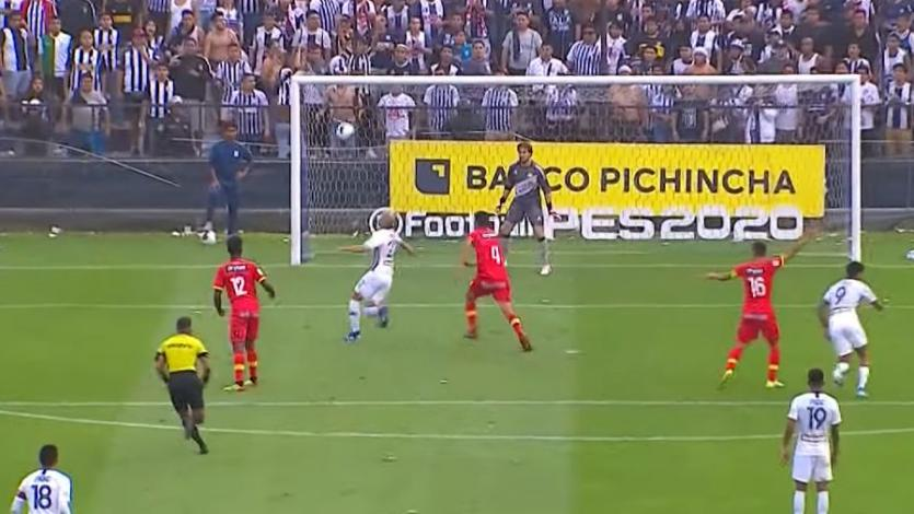 Alianza Lima: Federico Rodríguez falló clara opción de gol a pocos metros del arco de Huancayo