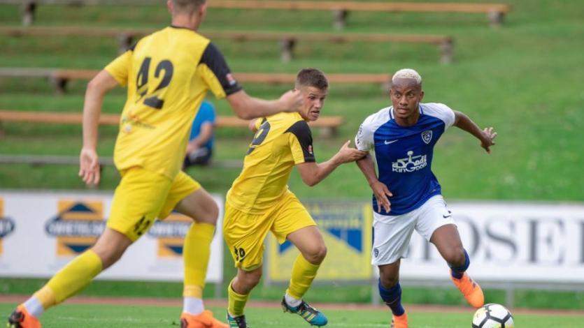 André Carrillo participó de un partido amistoso con Al Hilal