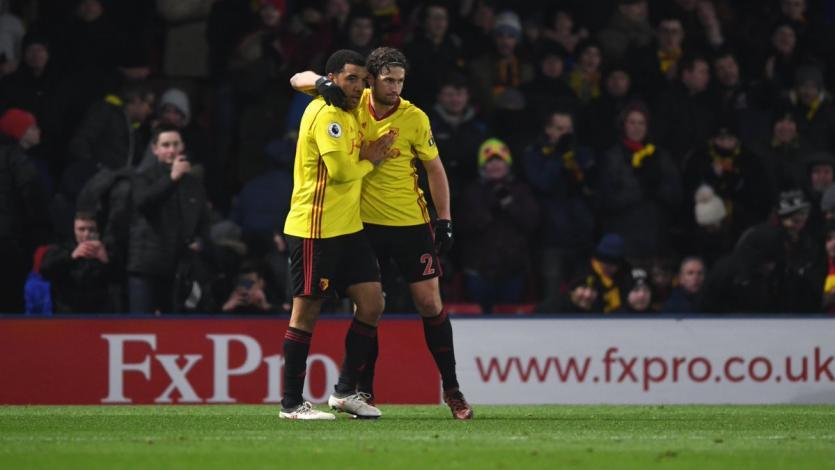 André Carrillo presente en la victoria del Watford