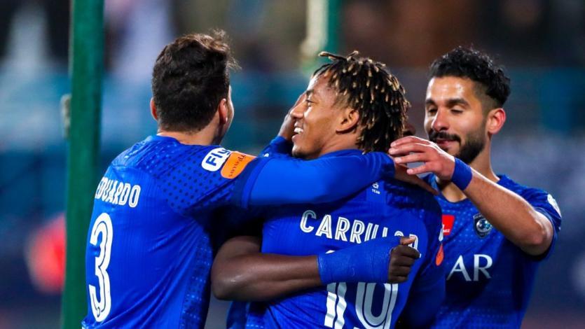 André Carrillo jugó en importante victoria de Al Hilal por el campeonato saudí (VIDEO)