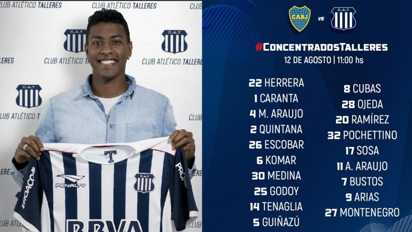 Miguel Araujo convocado para el debut ante Boca Juniors