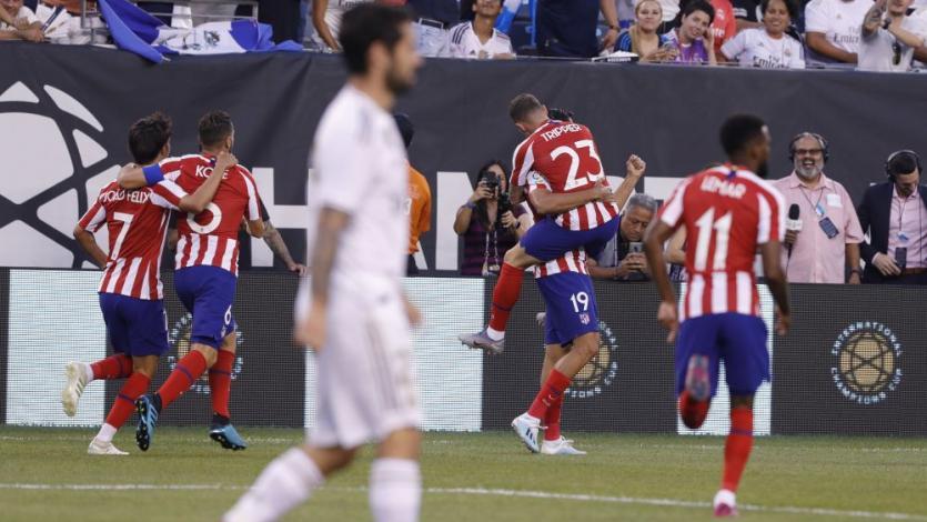 Atlético Madrid le anotó 5 goles al Real Madrid en el primer tiempo de partido amistoso