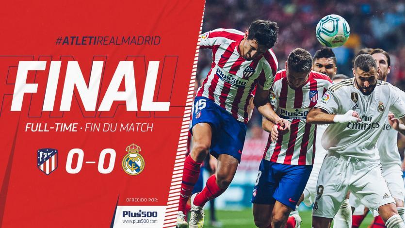 La Liga: Atlético y Real Madrid no se hicieron daño en el primer derby de la temporada (VIDEO)